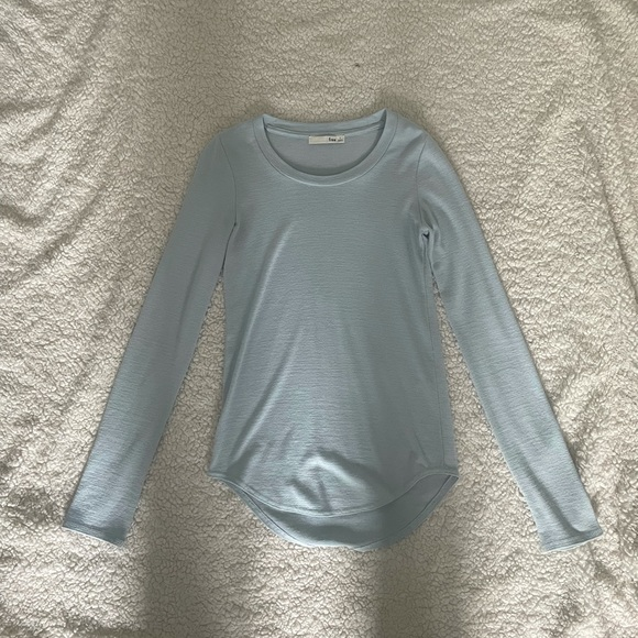 Long Sleeve Light Blue Wilfred Free Top